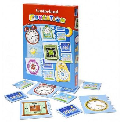 Puzzle Castorland-E-067 Bildung: Die Uhrzeiten