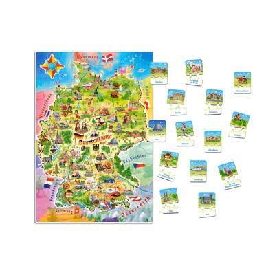 Puzzle  Castorland-E-180 XXL Teile - Deutschlandkarte