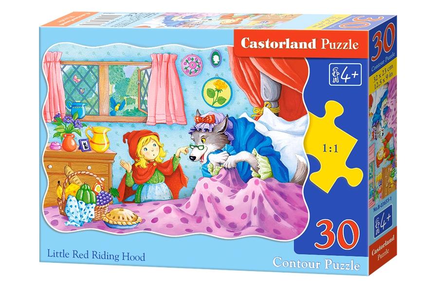 puzzle rotkäppchen castorland03655 30 teile puzzle