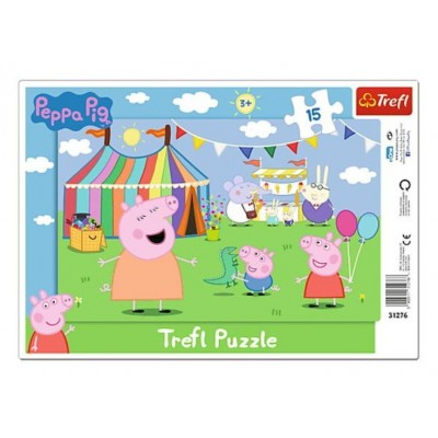 Trefl-31276 Rahmenpuzzle - Peppa Pig