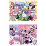 Clementoni-07029 2 Puzzles - Minnie Mouse