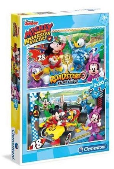 Clementoni-07034 2 Puzzles - Mickey