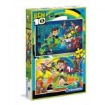 Clementoni-07035 2 Puzzles - Ben 10