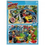 Clementoni-07130 2 Puzzles - Mickey Mouse