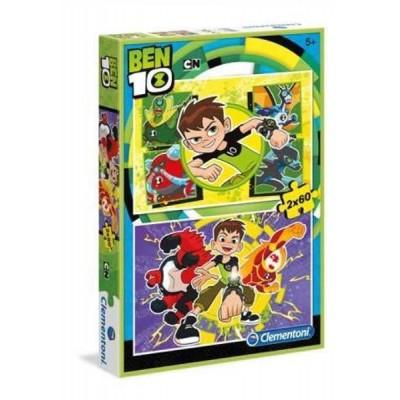 Clementoni-07136 2 Puzzles - Ben 10