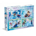 Clementoni-07614 4 Puzzles - Frozen