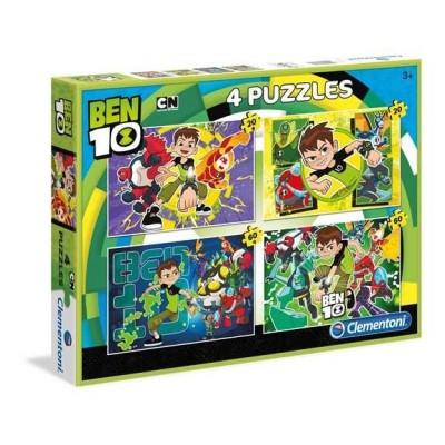 Clementoni-07616 4 Puzzles - Ben 10