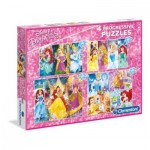 Clementoni-07721 4 Puzzles - Disney Princess