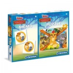 Puzzle  Clementoni-07912 Lion Guard + Memo