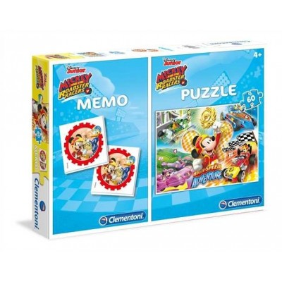 Clementoni-07917 Puzzle Mickey + Memo
