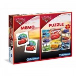 Clementoni-07918 Puzzle Cars + Memo