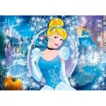 Clementoni-20132 Puzzle mit Glitzer-Effekt - Disney Princess