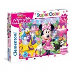 Clementoni-20146 Glitter Puzzle - Minnie