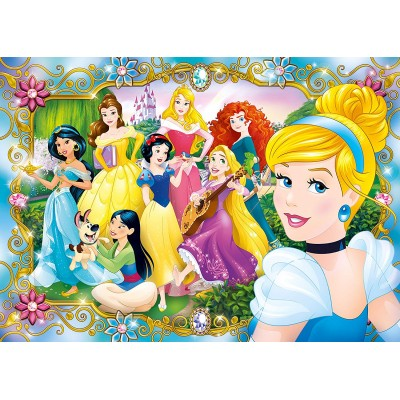 Clementoni-20147 Jewels Puzzle - Disney Princess