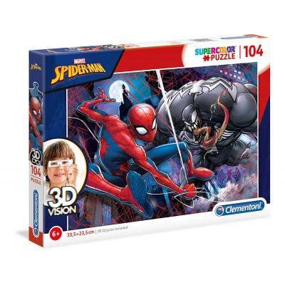 Puzzle  Clementoni-20148 3D Vision - Spider-Man