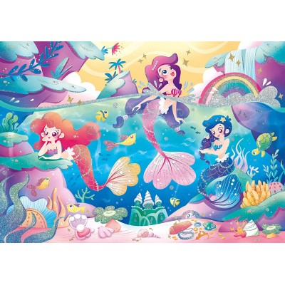 Puzzle  Clementoni-20149 Glitter Effect - Mermaids
