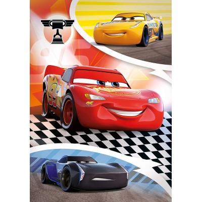 Clementoni-20160 Cars - Puzzle + 3D-Model