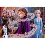 Puzzle  Clementoni-20162 Supercolor Frozen 2 - Glitter Effect