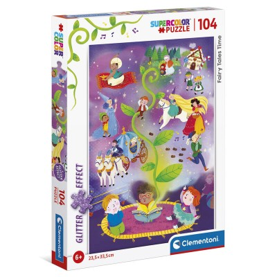 Puzzle  Clementoni-20180 Glitter Effect - Fairy Tales Time