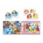 Puzzle  Clementoni-20208 Superkit Disney Princess - 2x30 Teile + Memo + Domino