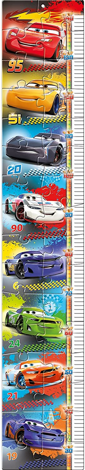 Clementoni-20324 Measure Me Puzzle - Cars