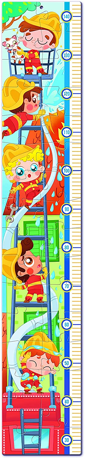 Clementoni-20330 Measure Me Puzzle - The Firemen