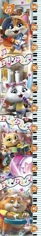 Clementoni-20336 XXL Teile - Grossenmesser - Measure Me Puzzle - 44 Cats