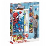 Clementoni-20337 XXL Teile - Measure Me Puzzle - Super Heroes