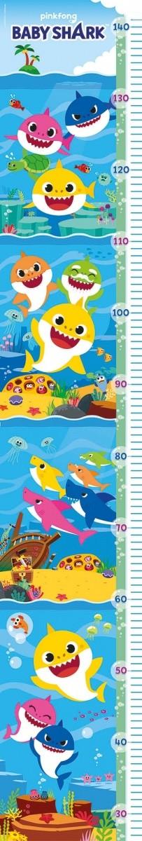 Clementoni-20340 XXL Teile - - Measure Me Puzzle - Baby Shark