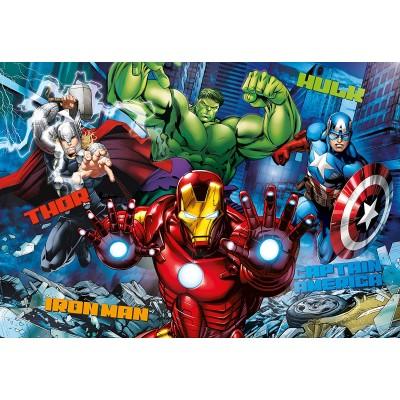 Puzzle  Clementoni-20606 3D Effekt - Avengers