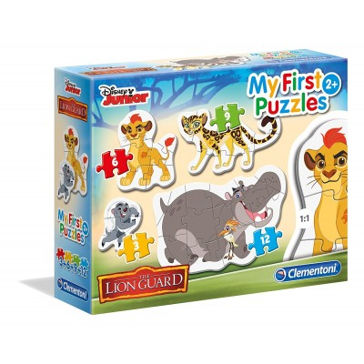 Clementoni-20801 4 Puzzles - My first Puzzles - The Lion Guard