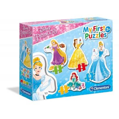 Clementoni-20805 4 Puzzles - My first Puzzles - Disney Princess