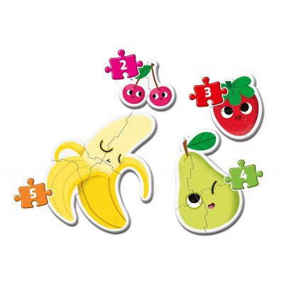 Clementoni-20815 My First Puzzle - Fruits (4 Puzzles)
