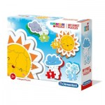 Clementoni-20817 My First Puzzle - The Weather (4 Puzzles)