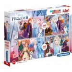 Clementoni-21307 4 Puzzles - Frozen 2 (2x20, 2x60 Teile)