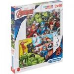 Clementoni-21605 2 Puzzles - The Avengers