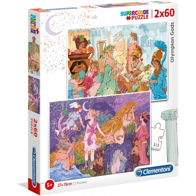 Clementoni-21612 2 Puzzles - The Olympics