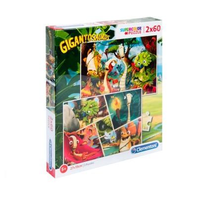 Puzzle  Clementoni-21614 Gigantosaurus - 2x60 Teile