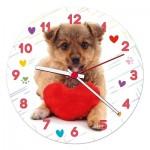 Clementoni-23039 Puzzle-Uhr - Puppy