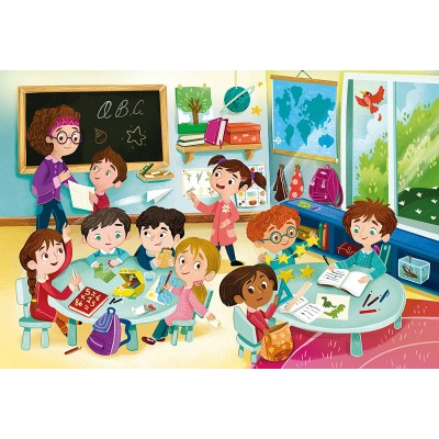 Puzzle  Clementoni-23732 XXL Teile - Die Schule