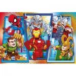Puzzle  Clementoni-23746 XXL Teile - Marvel Super Hero Avengers