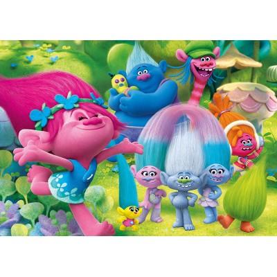 Clementoni-23981 Riesen-Bodenpuzzle - Trolls