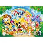 Clementoni-24473 Riesen-Bodenpuzzle - Disney Family