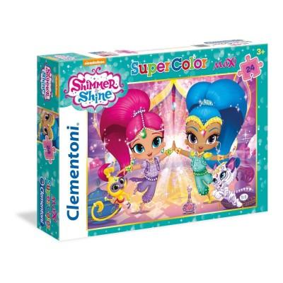 Puzzle  Clementoni-24486 XXL Teile - Shimmer & Shine