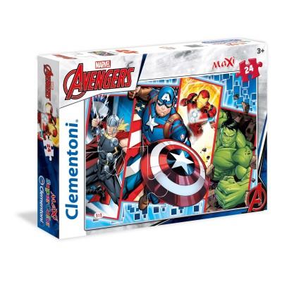 Puzzle  Clementoni-24495 XXL Teile - Marvel Avengers