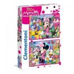 Clementoni-24750 2 Puzzles - Minnie