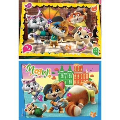 Clementoni-24758 2 Puzzles - 44 Cats