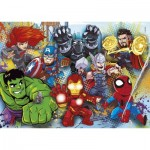 Puzzle  Clementoni-24769 Marvel Superhero - 2x20 + 2x60 Teile