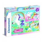 Clementoni-25231 3 Puzzles - I Believe in Unicorns