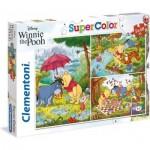 Clementoni-25232 3 Puzzles - Winnie the Pooh (3x48)